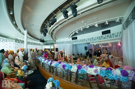 Weddingline Plans A Beautiful Anand Karaj Wedding at the Royal Caribbean Voyager of The Seas Cruise