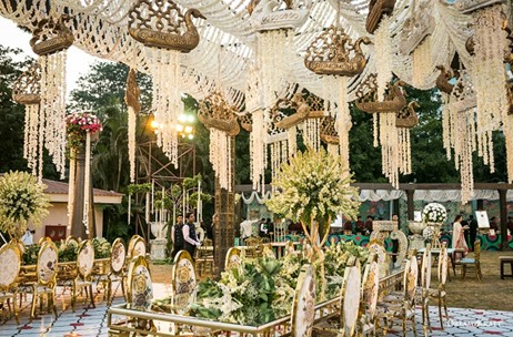 The Renaissance Powai Gorgeously Lit And decked with Greens for this wedding by Dreamzkraft!