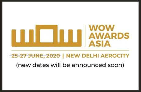 12th Edition of WOW Awards Asia 2020 Postponed in Light of the Covid-19 Outbreak