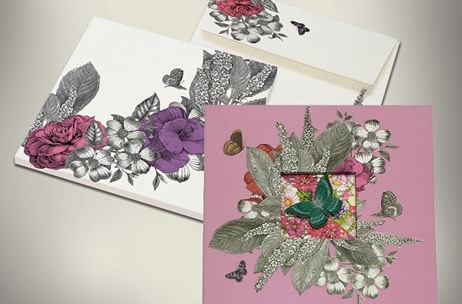 A Chic, Vintage Floral Invite by YS Design Studio