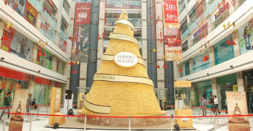 Vibgyor creates a tall Ferrero Rocher pyramid
