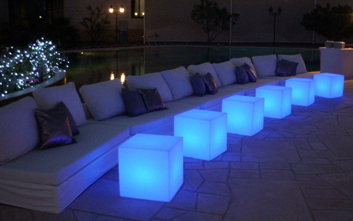 RSG Lights introduces attractive LED furniture for social events and weddings