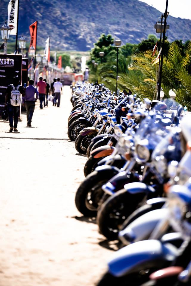Harley owners ride in to Pushkar for H.O.G Rally