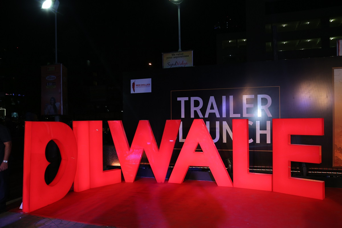 Dilwale Trailer Simultaneously Launched in 5 Countries by Cineyug