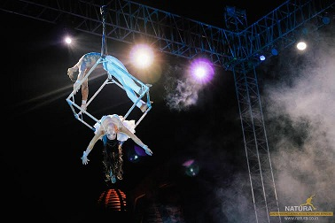 Natura executes exhilarating Aerial Acts for Pune Wedding Reception