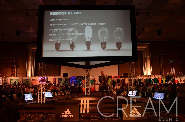 Cream Events manages trades shows for Reebok and Adidas
