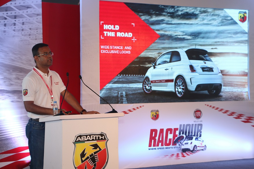 Fiat launches the Abarth 595 Competizione at Buddh International Circuit