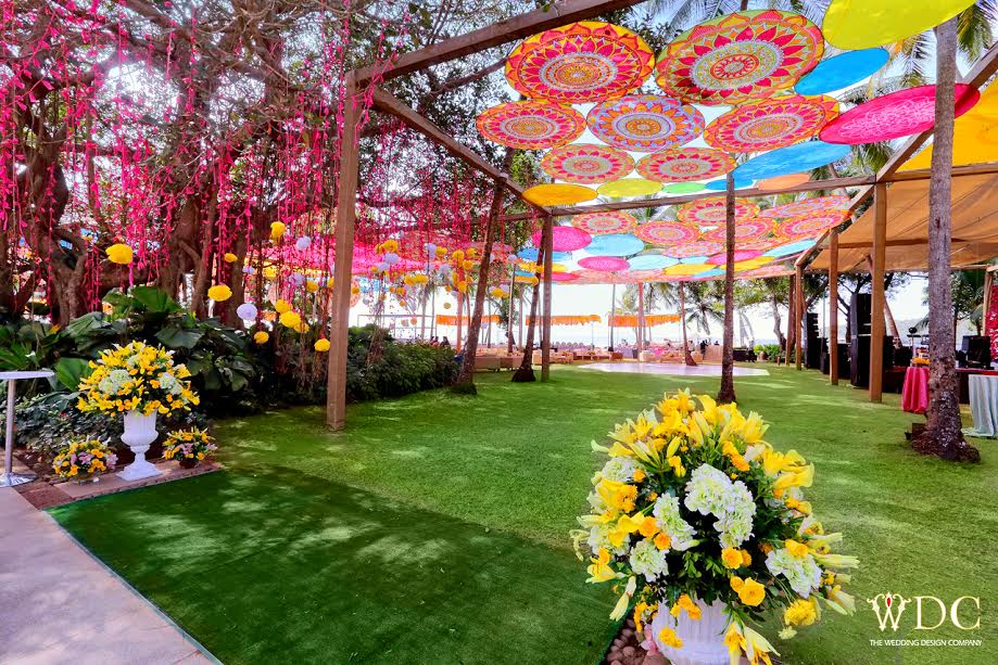 The Wedding Design Company by Vandana Mohan Designs a Gorgeous Day Mehendi at Grand Hyatt Goa!