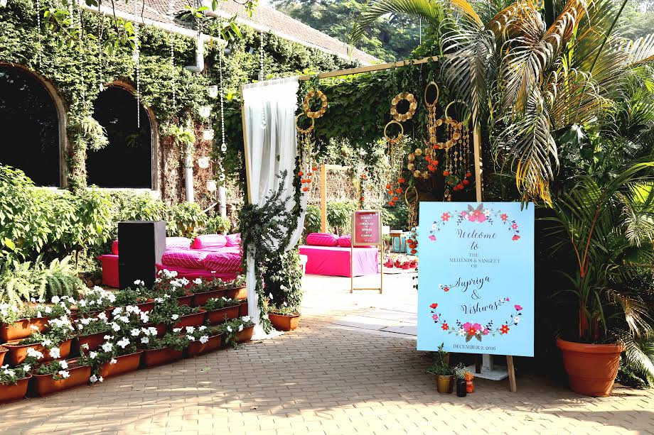 Sweet Details at Kitsch Mehendi & Whimsical Sangeet by Altair Decor at Turf Club, Mumbai