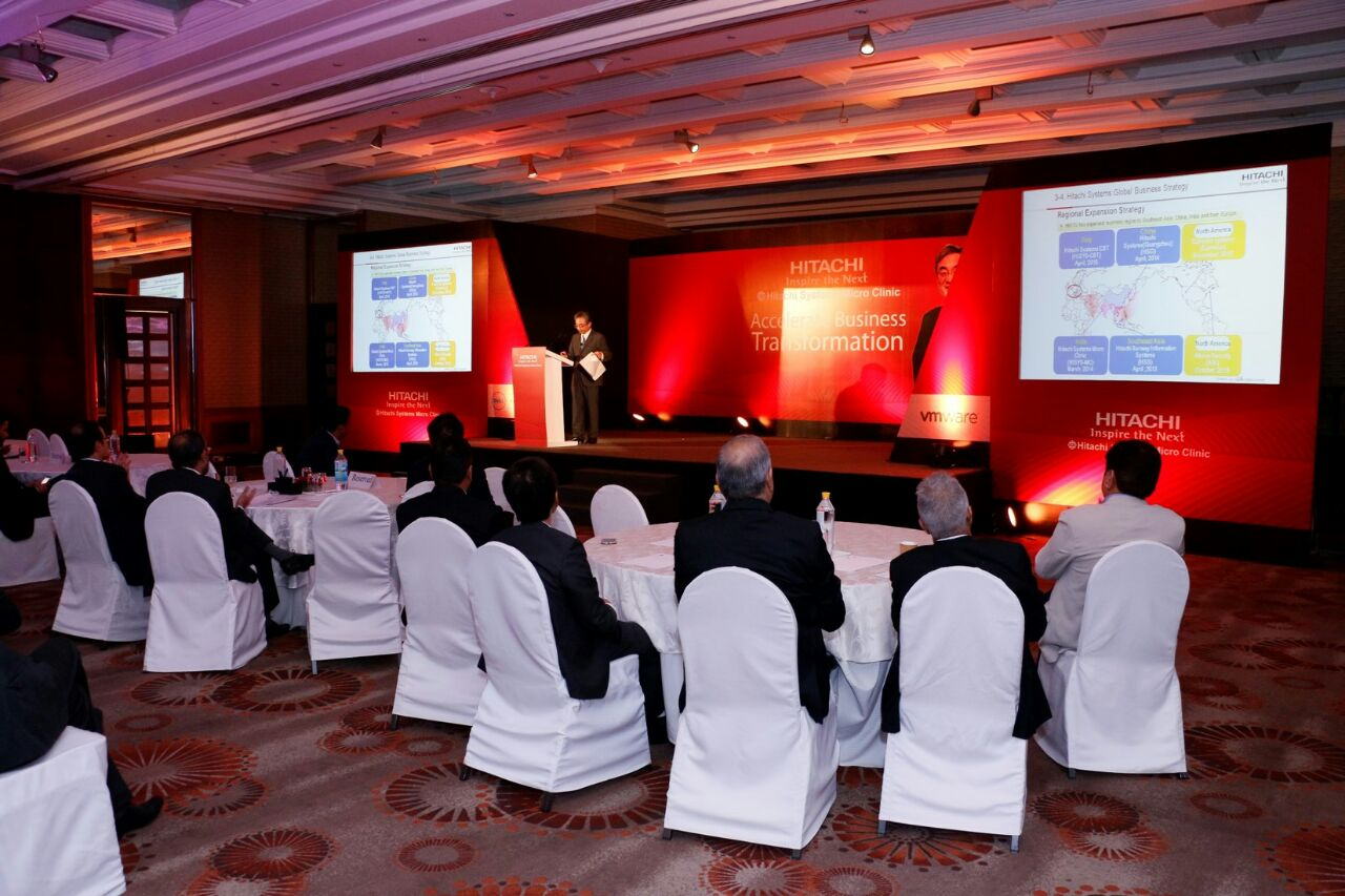Eventz Unlimited Produces Business Conference for Hitachi System Micro Clinic at Hyatt Delhi