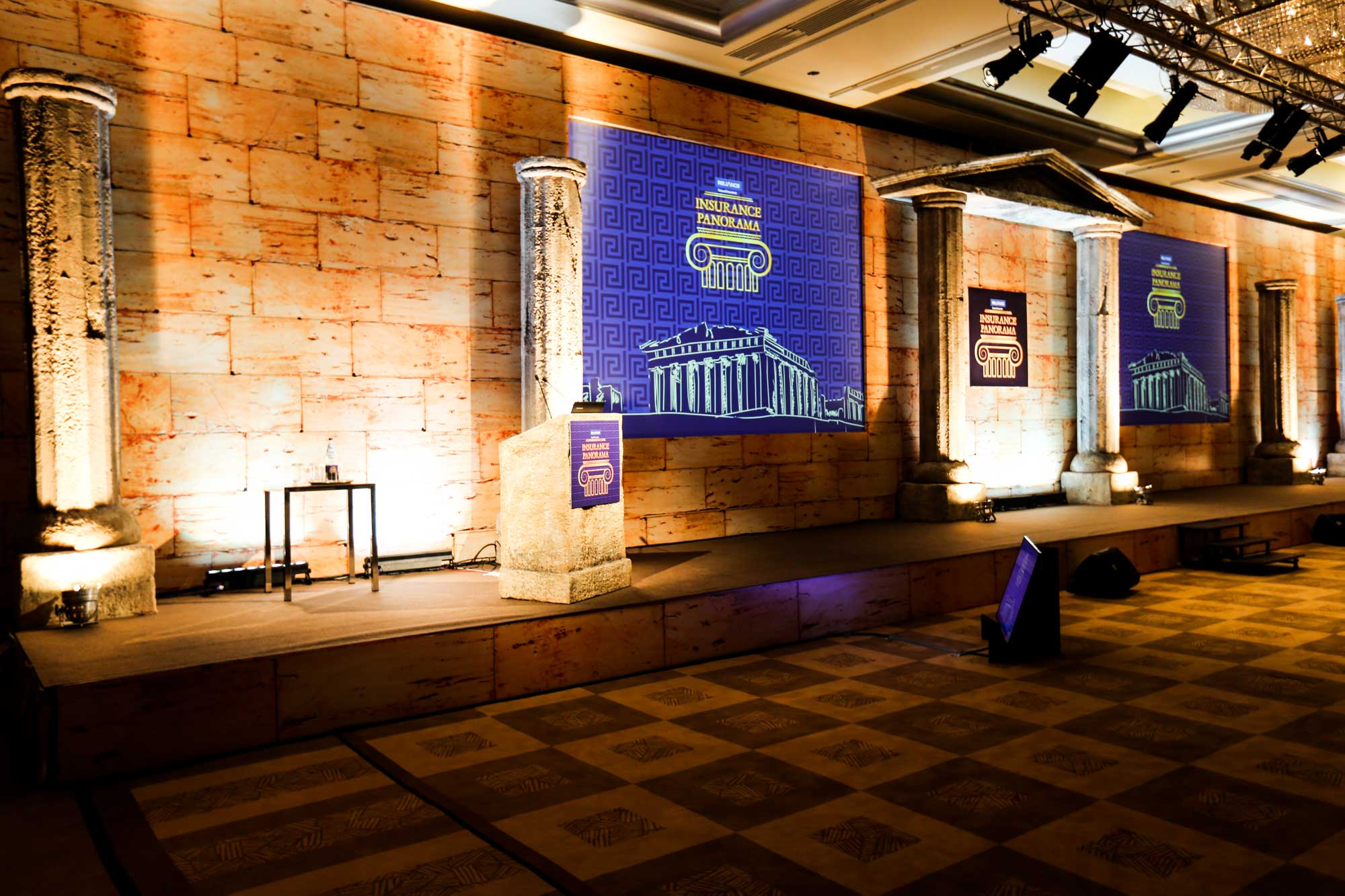 Moving Heads Takes Reliance General Insurance Panorama To Athens Greece
