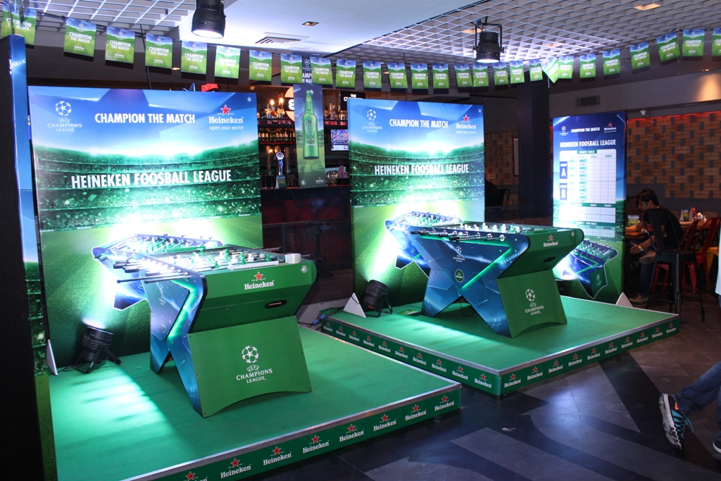 Showhouse Manages Amp Executes The Heineken Foosball League