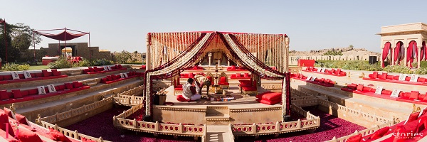 An Opulent Desert Wedding Drenched in Deep Red & Marsala! Produced By Devika Narain & Company