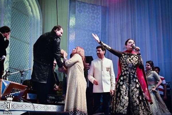 Rahat Fateh Ali Khan, Gitikka Ganju Dhar @ Kashmir Themed Engagement by Touchwood Group
