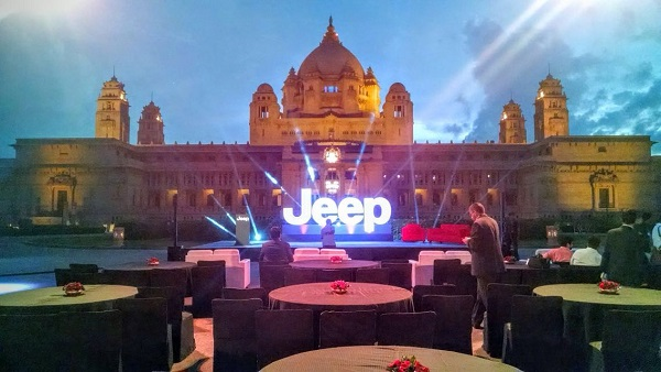 The Entertainment Co. Launches the Legendary Jeep Brand at the Umaid Bhawan Palace