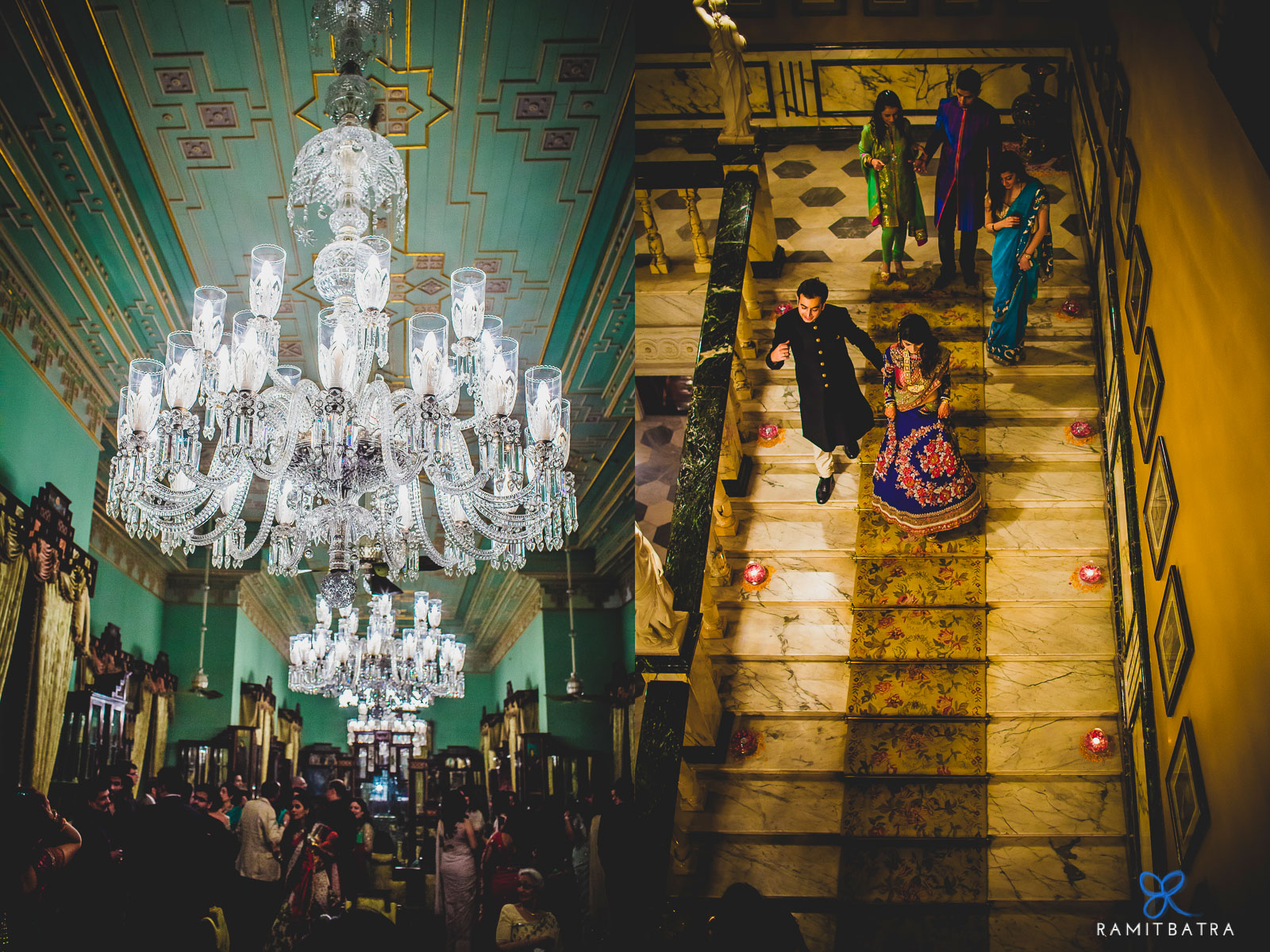 A Spectacular Wedding At The Stunning Taj Falaknuma Palace, Hyderabad- Shot By Ramit Batra