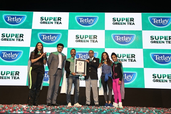 Jossbox Curates Guinness World Record-Breaking Concept Tetley's Super Green Tea Launch