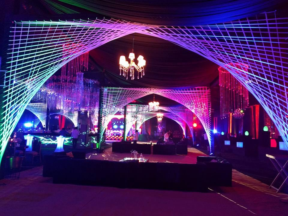 A Stunning Glow in the Dark Themed Cocktail by Maadhyam Events Sees LED Furniture by RSG Lights!