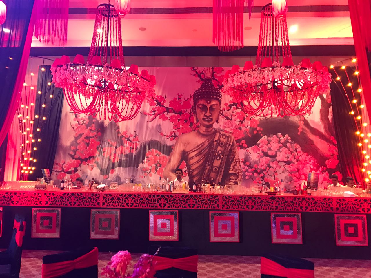 Fab Events Delivers a Buddha Bar Engagement in Udaipur; Mystical Decor by Q Events By Geeta Samuel!