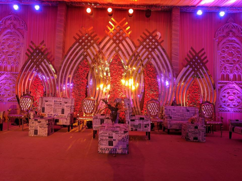 Maadhyam Events Uses an Exquisite Peach Colour Story for Gurgaon Pre-Wedding Do