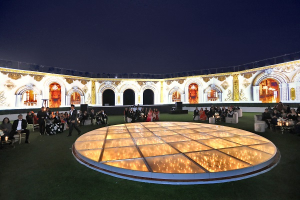 Ras al-Khaimah Wedding by MtoM Sees Mega Sets, an LED Mandap, 3D Projection Mapping & More!