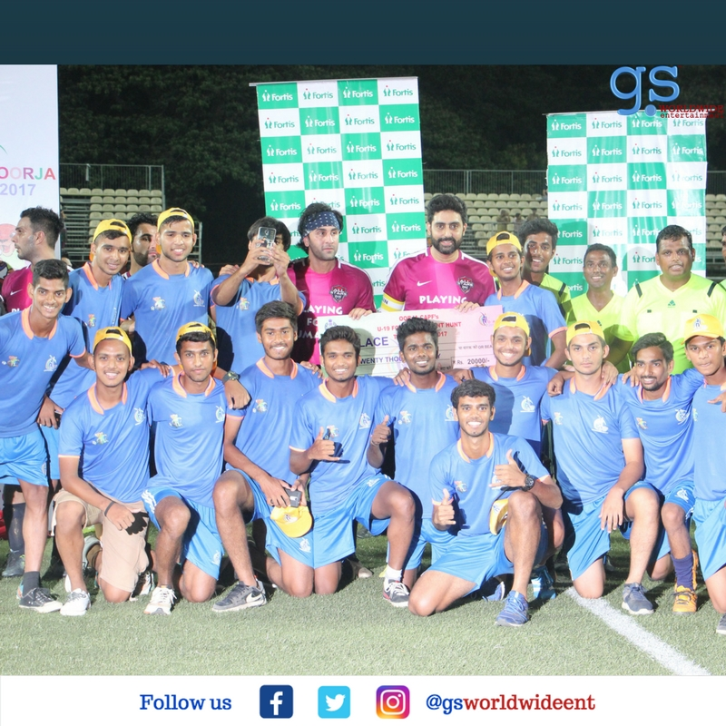 Abhishek Bachchan & Ranbir Kapoor Hit the Football Field to Create Awareness for Mission XI Million