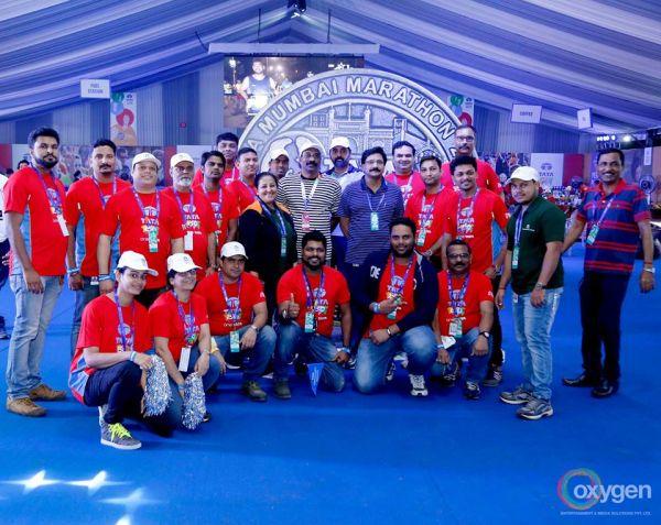 Oxygen Entertainment Surpasses Grandeur With A Massive Marquee At TATA Mumbai Marathon 2018!