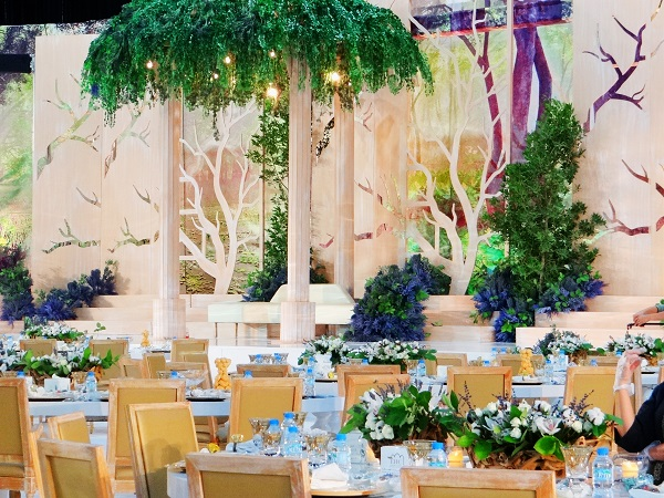 The Wedding Venue Creates An Enchanted Garden Theme at the Al Ain Convention Center