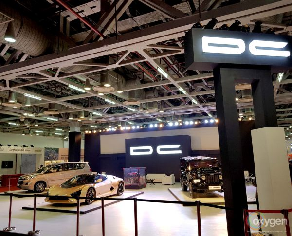 DC Pavilion At Auto Expo - The Motor Show 2018 Given A Classic Look By Oxygen Entertainment