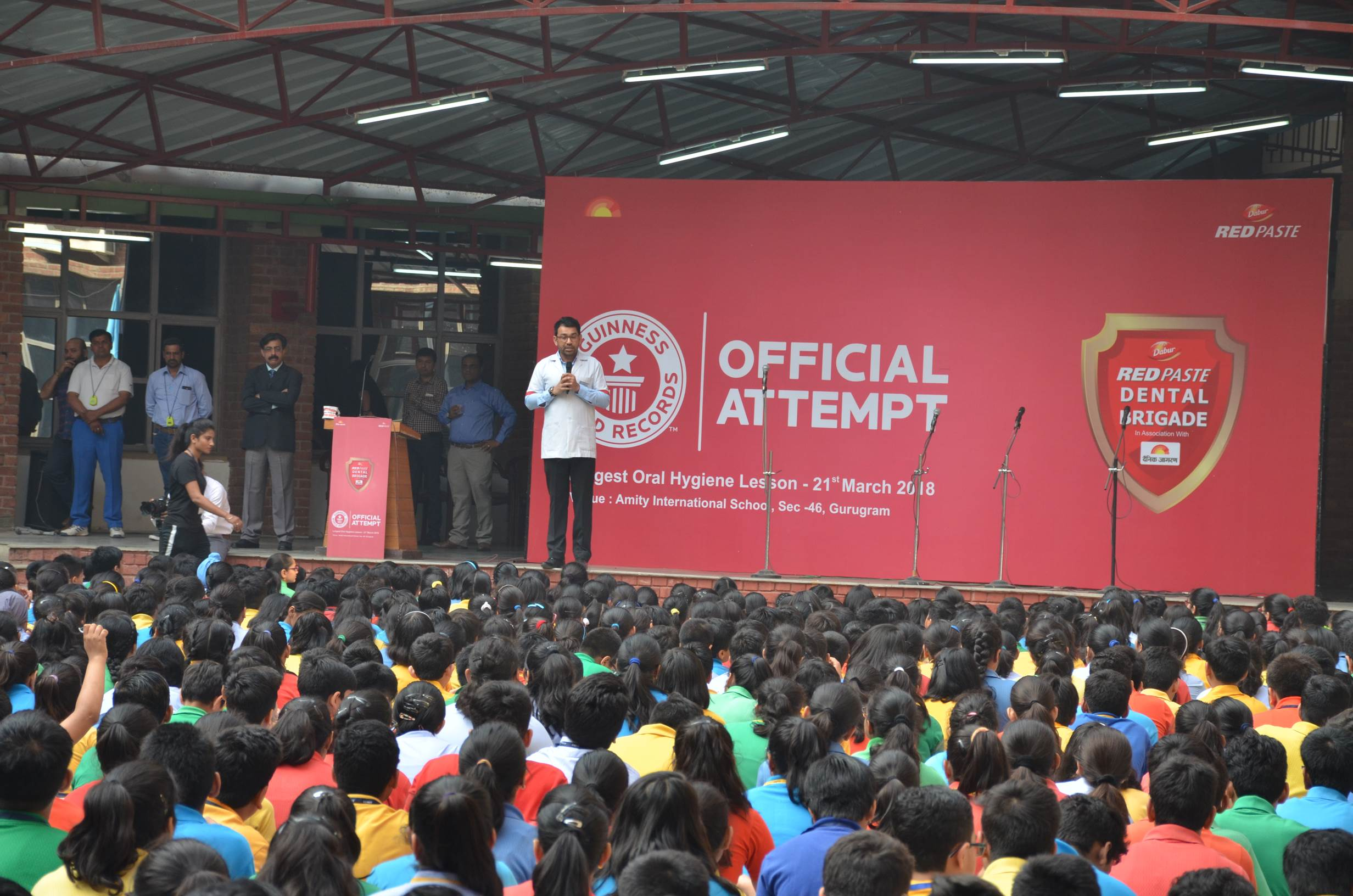 Jagran Solutions Helps Dabur Red Paste Create Guinness Record for 'Largest Oral Hygiene Session