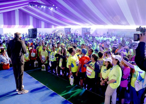 Oxygen Entertainment & Media Solutions Managed the Entire Setup for TATA Mumbai Marathon 2019