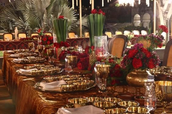 24-feet Mandap, Handmade Flower Chandelier Adorn 'Royal' Gala by The Wedding Connections