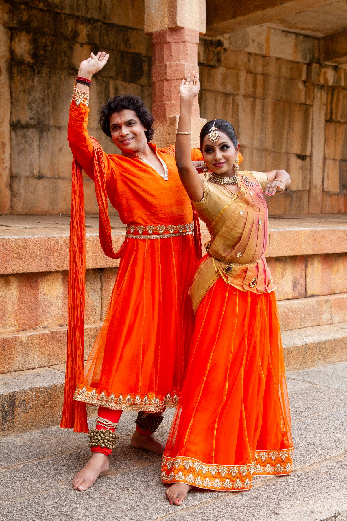 All the World's a Stage for Kathak Exponents Hari and Chethana