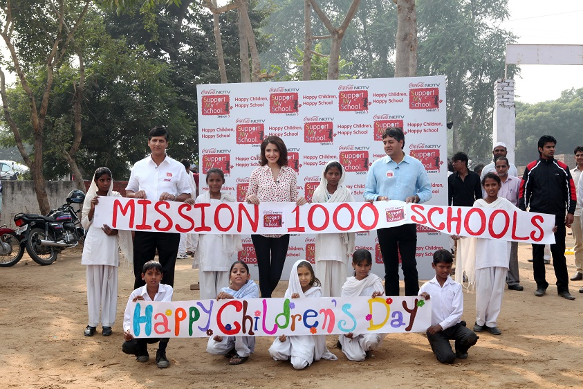 NDTV & Coca-Cola launch the 3rd season of Support My School