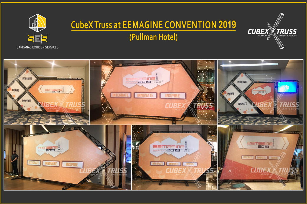 Special Branding Displays for EEMAGINE 2019 by CubeX Truss