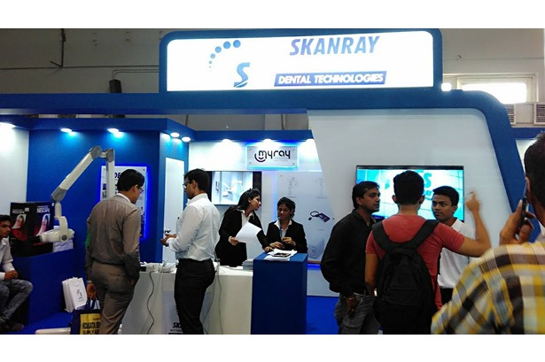KG Movie provided services at Skanray Technologies Stall.