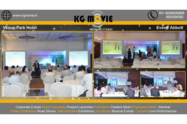 KG Movie provided services at Abbott event in Park Hotel Kolkata.