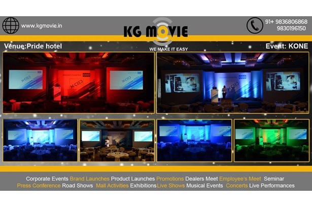KG Movie provided services for KONE event at  Pride Hotel, Kolkata.
