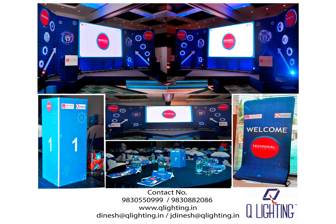 Q Lighting provided services at Toyota Technical Conference at ITC Sonar, Kolkata, A Luxury Collection Hotel.