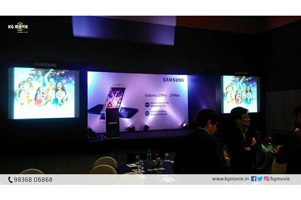 KG Movie provided services at the launch of Samsung Galaxy J7 Pro & Galaxy J7 Max In Kolkata.