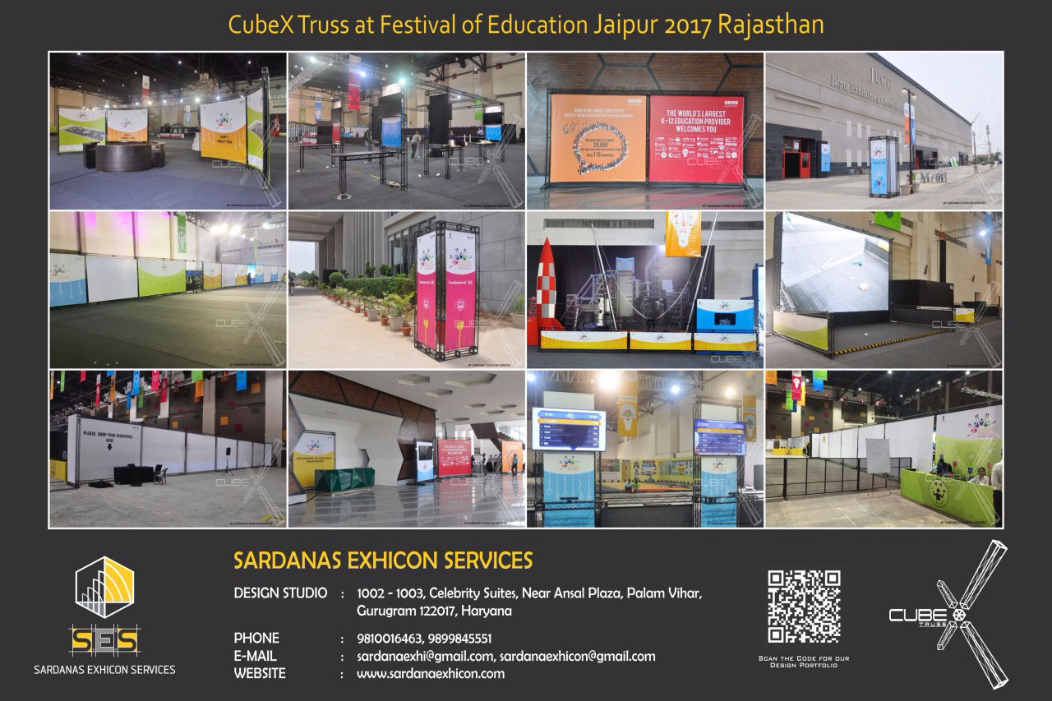 CubeX Truss at Festival Of Education 2017, Jaipur