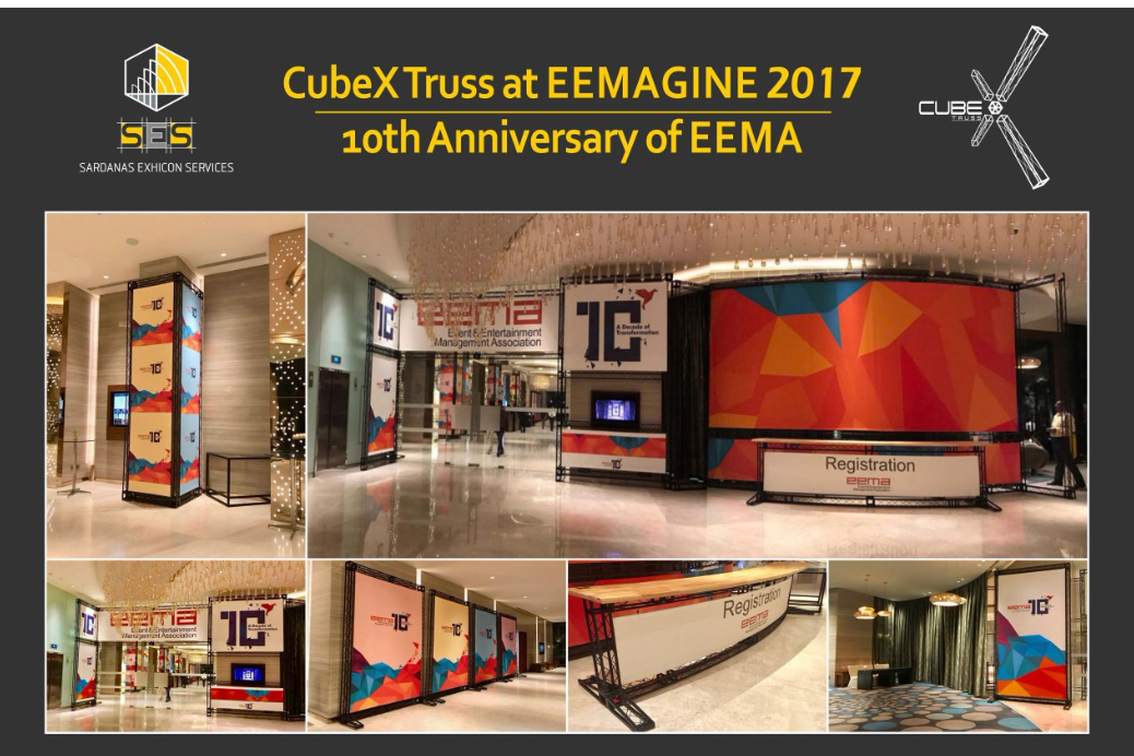 CubeX Truss™ Custom Branding Displays at The 10th Anniversary of EEMA, Pullman Hotel, New Delhi