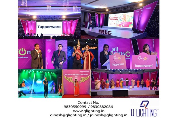 Q Lighting executed the Tupperware RLC 2017 #Meet at The Gateway Hotel.