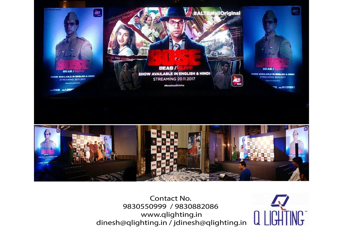 Q Lighting provided services at Bose Dead/Alive, a Net Version Film released by Balaji.