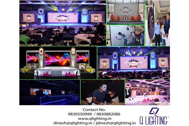 Q Lighting provided services for the Titan event at ITC Sonar, Kolkata, A Luxury Collection Hotel.