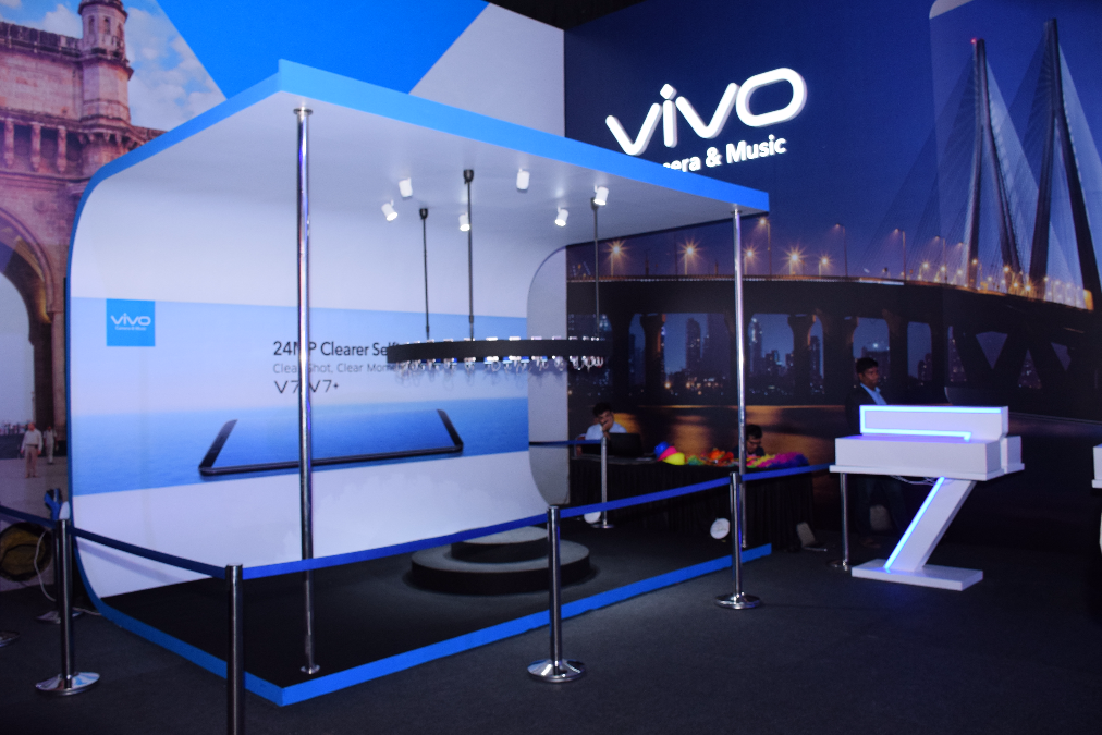 TPT Productions extended Fabrication and Setup services, towards the launch event of VIVO V 7+, to Encompass Events