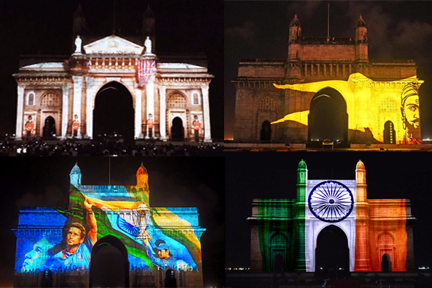 Knownsense Studios does a 3D Projection Mapping show on Gateway of India