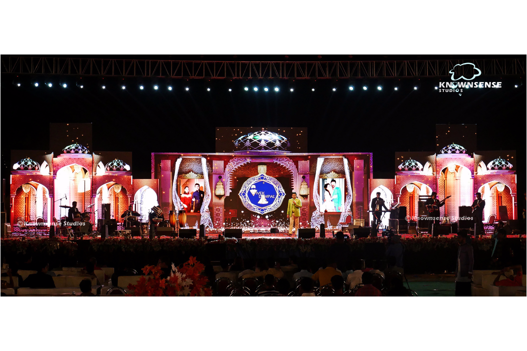 Knownsense Studios' breathtaking LED Mapping creates a huge buzz at Pre-Wedding Function