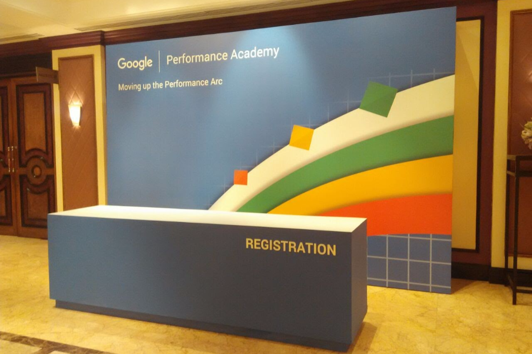 TPT Productions extended Fabrication and Setup services, for Google Performance Academy event, to CAB Experiences