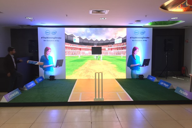 Concepts & Solutions transformed Dell India cafeteria into an immersive Cricket AR experience zone